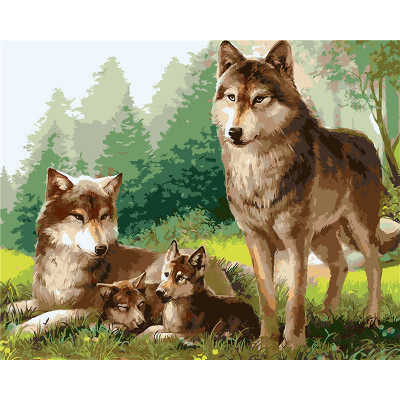 Kit pictura pe numere cu animale, DTP1078