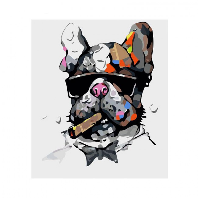 Kit pictura pe numere cu animale, DTP1110
