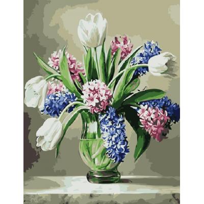 Kit pictura pe numere cu flori, NDTP-115