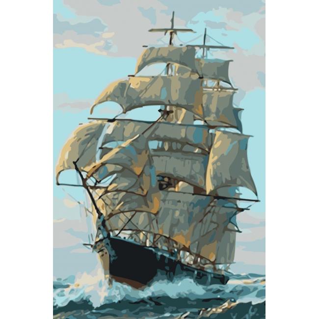Kit pictura pe numere cu vapoare, NDTP-134R