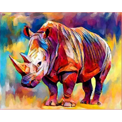 Kit pictura pe numere cu animale, DZ1406