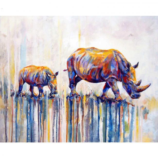Kit pictura pe numere cu animale, DTP1407