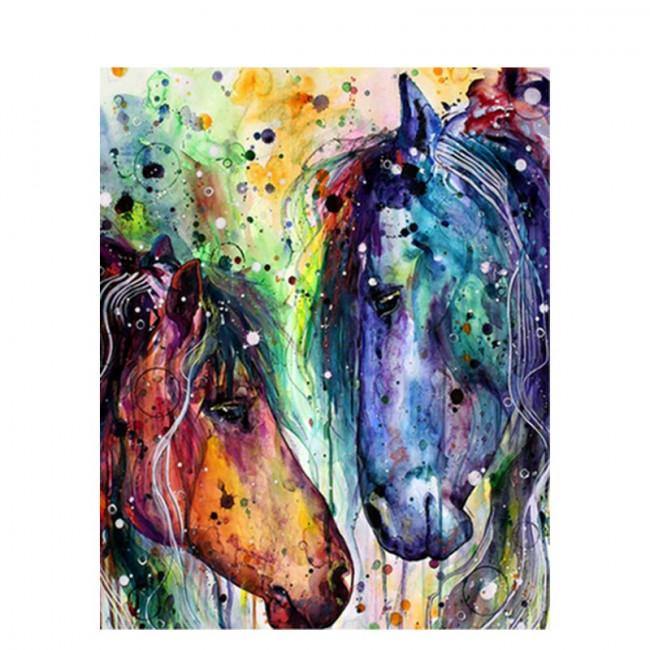 Kit pictura pe numere cu animale, DZ1443