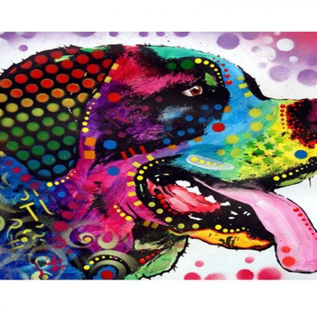 Kit pictura pe numere cu animale, DTP1448