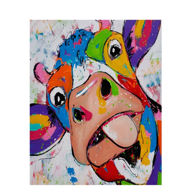 Kit pictura pe numere cu animale, DTP1474
