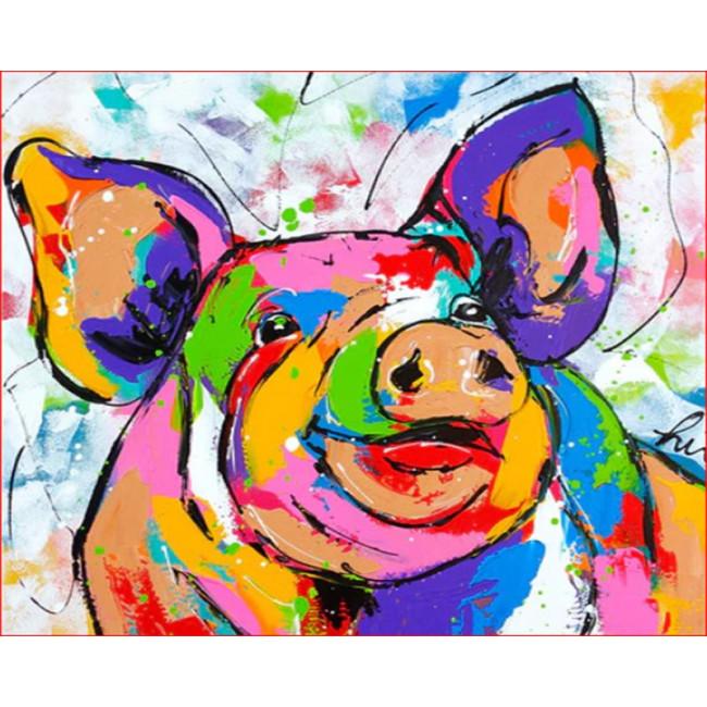 Kit pictura pe numere cu animale, DZ1583