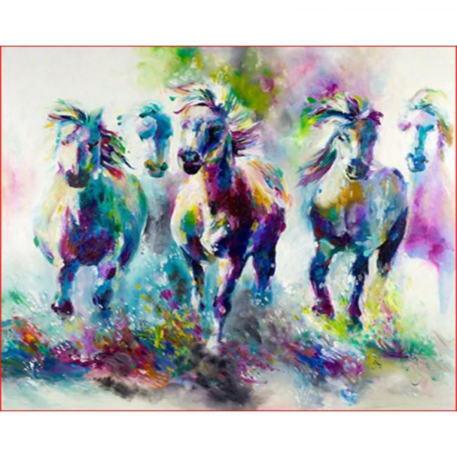 Kit pictura pe numere cu animale, DTP1624