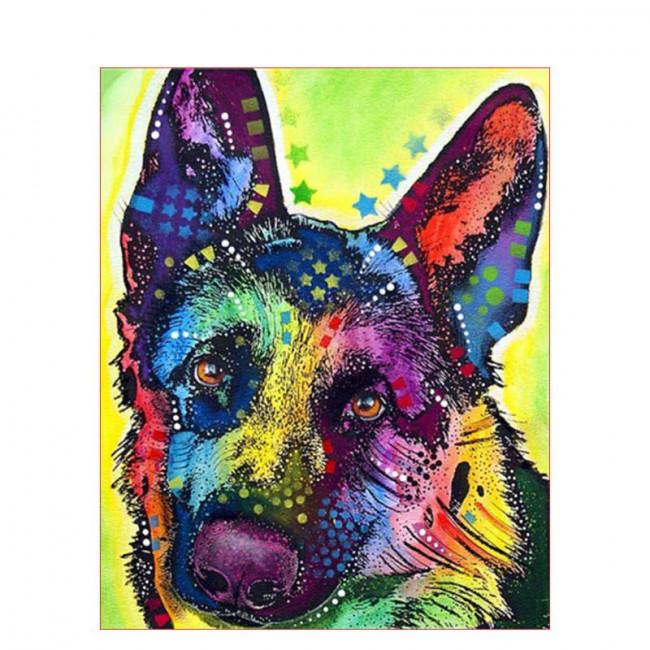 Kit pictura pe numere cu animale, DTP1641