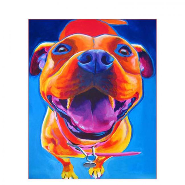 Kit pictura pe numere cu animale, DTP1655