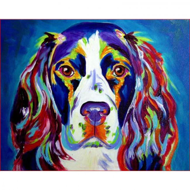 Kit pictura pe numere cu animale, DTP1672