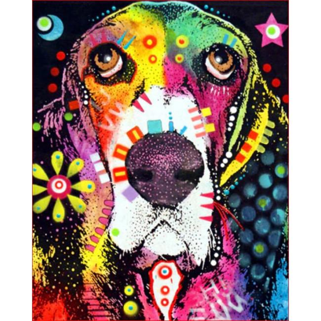 Kit pictura pe numere cu animale, DTP1703