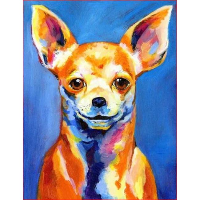 Kit pictura pe numere cu animale, DTP1704