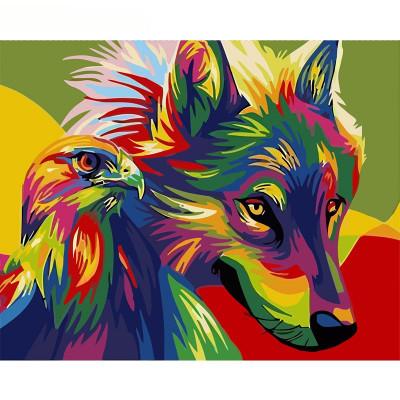 Kit pictura pe numere cu animale, DTP1761