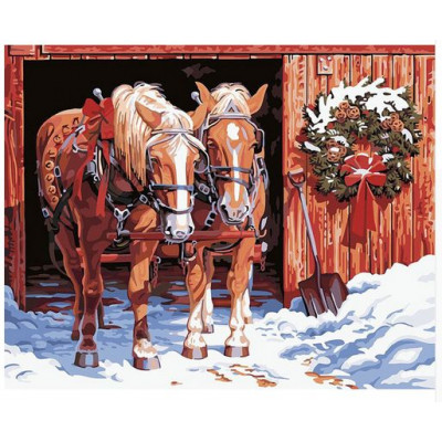 Kit pictura pe numere cu iarna, DTP1823