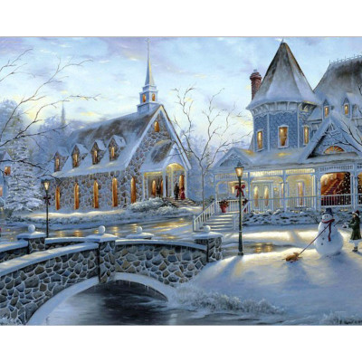 Kit pictura pe numere cu iarna, DTP185