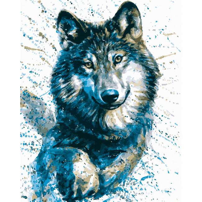 Kit pictura pe numere cu animale, DZ2201