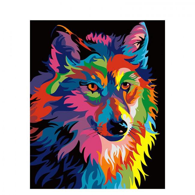 Kit pictura pe numere cu animale, DTP225