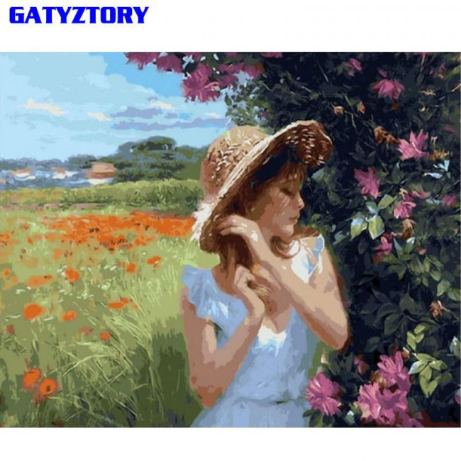 Kit pictura pe numere cu oameni, DZ2251