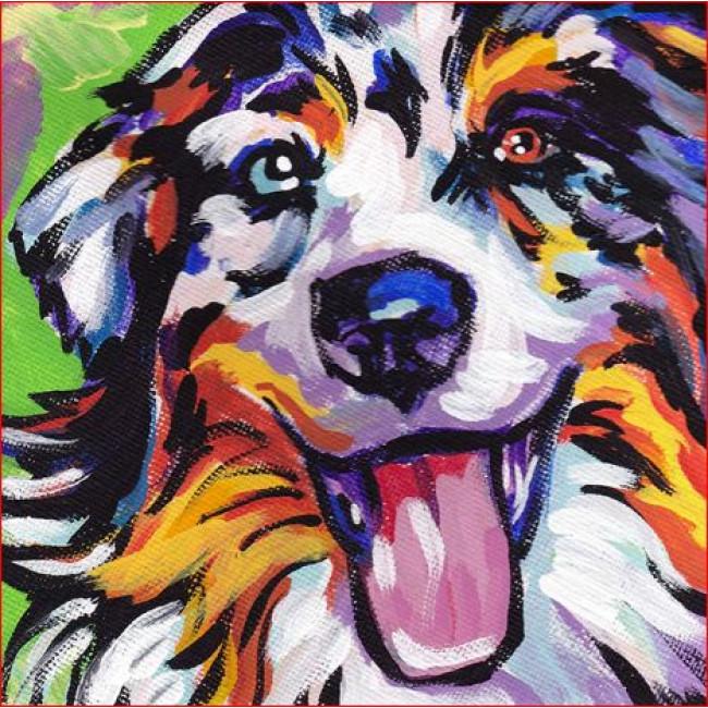 Kit pictura pe numere cu animale, DTP2262