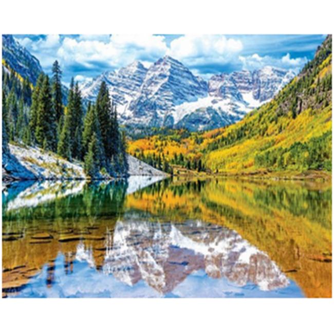 Kit pictura pe numere cu peisaje, DZ2418