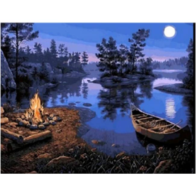 Kit pictura pe numere cu peisaje, DTP2492