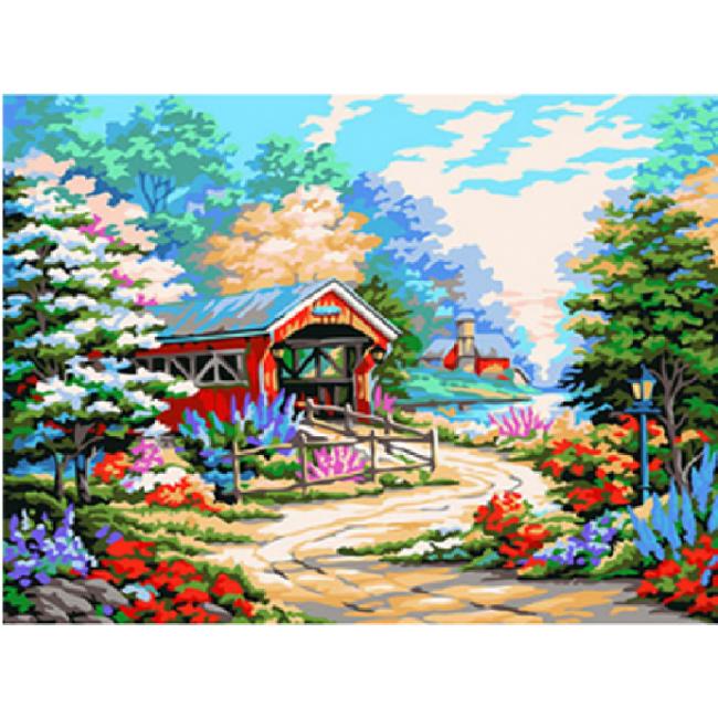 Kit pictura pe numere cu peisaje, DZ2497