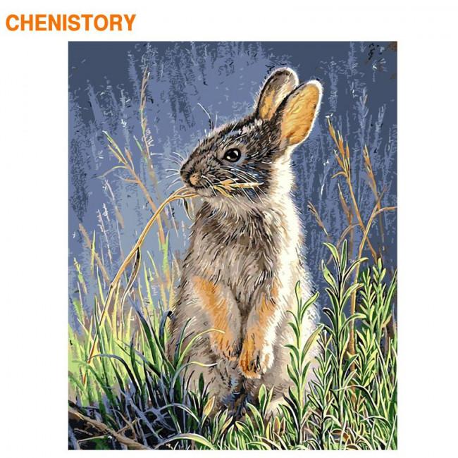 Kit pictura pe numere cu animale, DTP2546