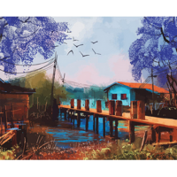 Kit pictura pe numere cu peisaje, DTP2551