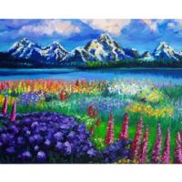 Kit pictura pe numere cu peisaje, DTP2567