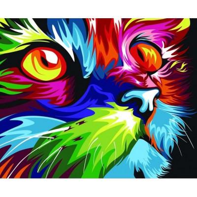 Kit pictura pe numere cu animale, DTP2606