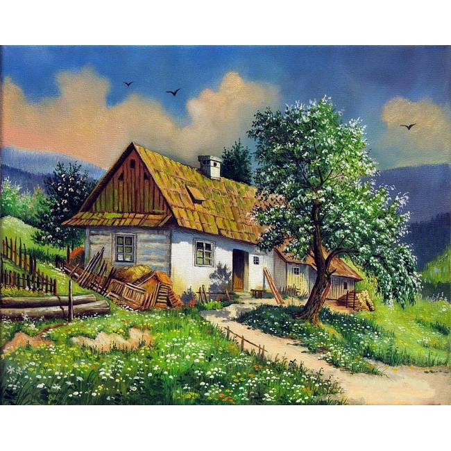 Kit pictura pe numere cu peisaje, DZ3599