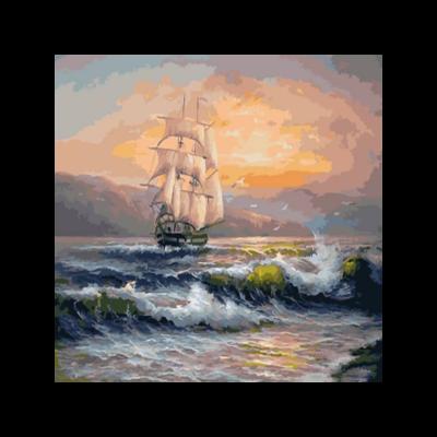 Kit pictura pe numere cu vapoare, DTP3628