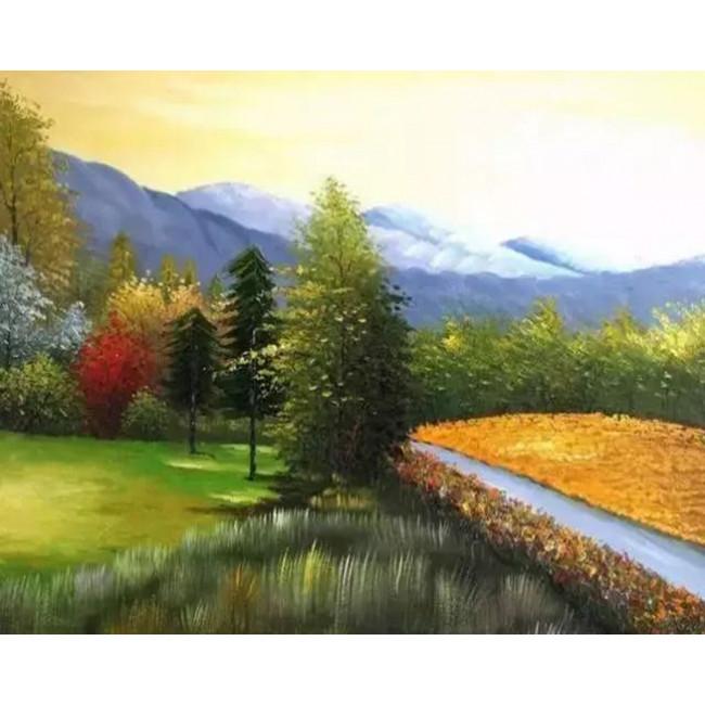 Kit pictura pe numere cu peisaje, DTP3704