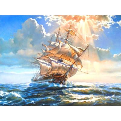 Kit pictura pe numere cu vapoare, DTP4067