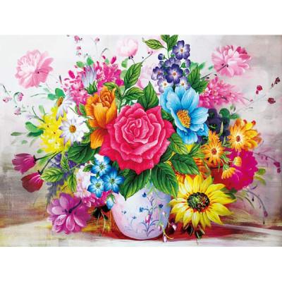 Kit pictura pe numere cu flori, DZ4158