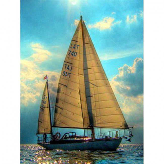 Kit pictura pe numere cu vapoare, DTP4234
