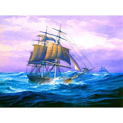 Kit pictura pe numere cu vapoare, DTP4331