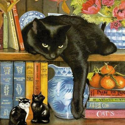 Kit pictura pe numere cu animale, DTP4437