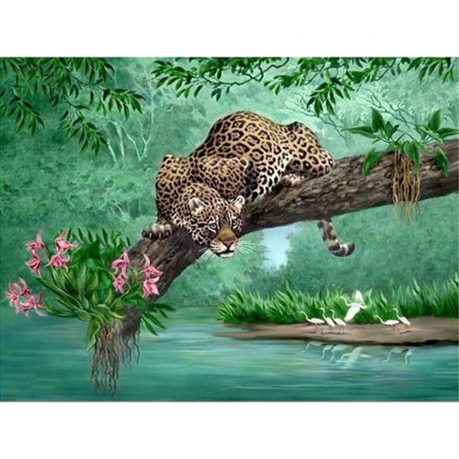 Kit pictura pe numere cu animale, DTP4547