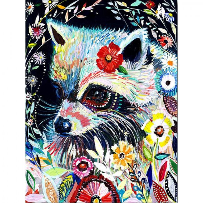 Kit pictura pe numere cu animale, DTP4574