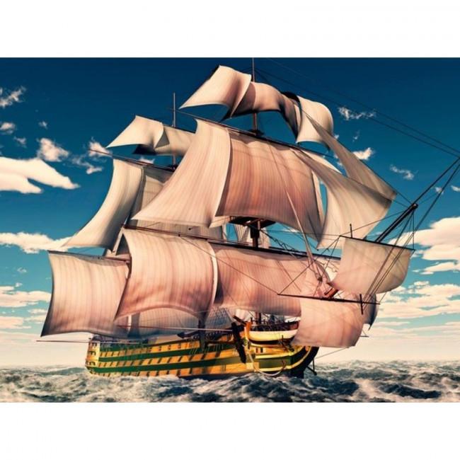 Kit pictura pe numere cu vapoare, DTP4592