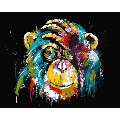 Kit pictura pe numere cu animale, DTP46