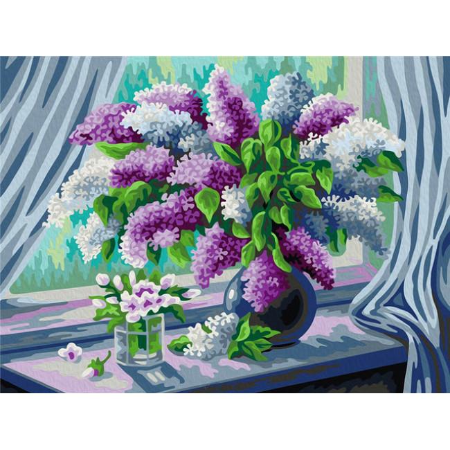 Kit pictura pe numere cu flori, DTP4694