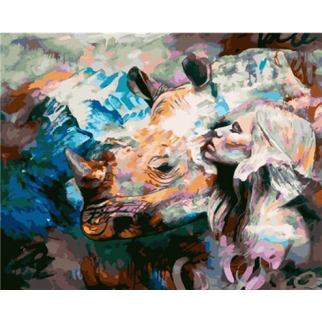 Kit pictura pe numere cu animale, DTP4722