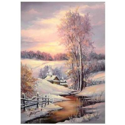Kit pictura pe numere cu iarna, DTP4806
