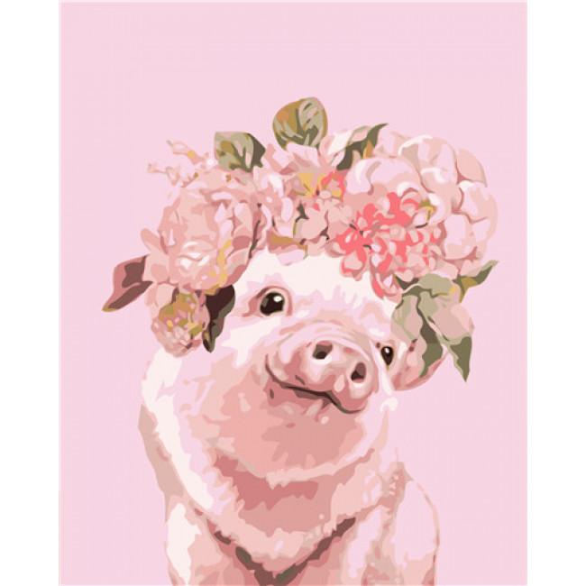 Kit pictura pe numere cu animale, DTP4856