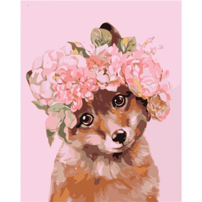 Kit pictura pe numere cu animale, DTP4857