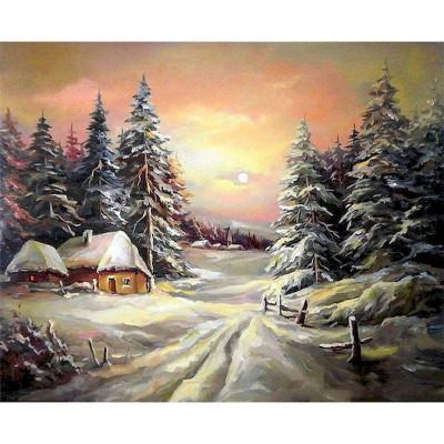 Kit pictura pe numere cu iarna, DZ4859