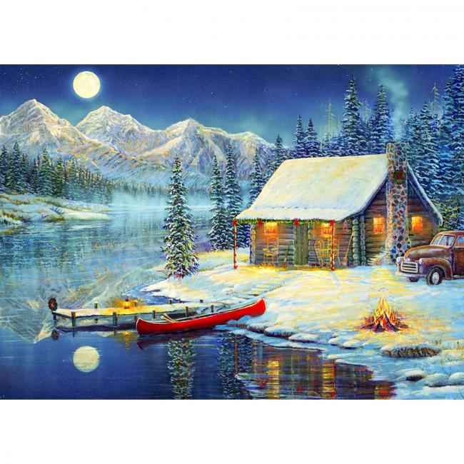 Kit pictura pe numere cu iarna, DTP4942