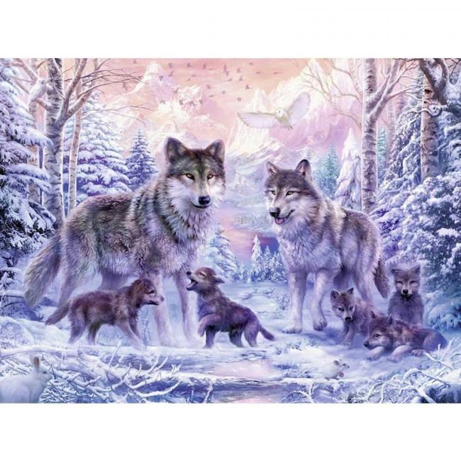 Kit pictura pe numere cu animale, DTP4946